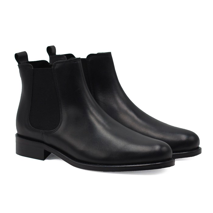 Bottines Chelsea cuir noir 2