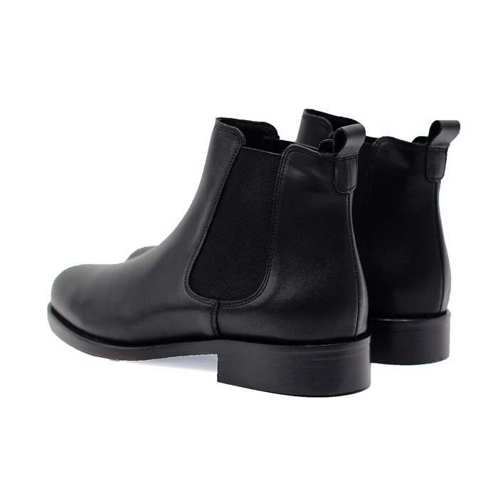 Bottines Chelsea cuir noir 3