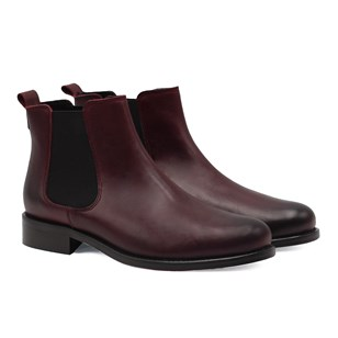 Bottines Chelsea cuir bordeaux