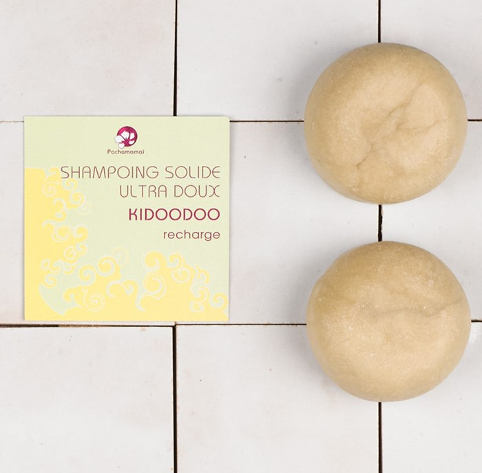 Kidoodoo - Shampoing solide enfant - Recharge Format Voyage