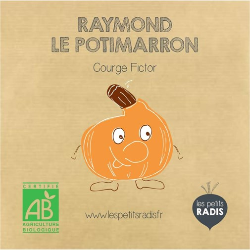 Mini-kit de semis - Graines de potimarron bio - Raymond le potimarron