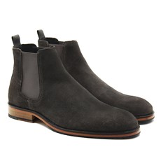 Chelsea boots casual cuir daim gris