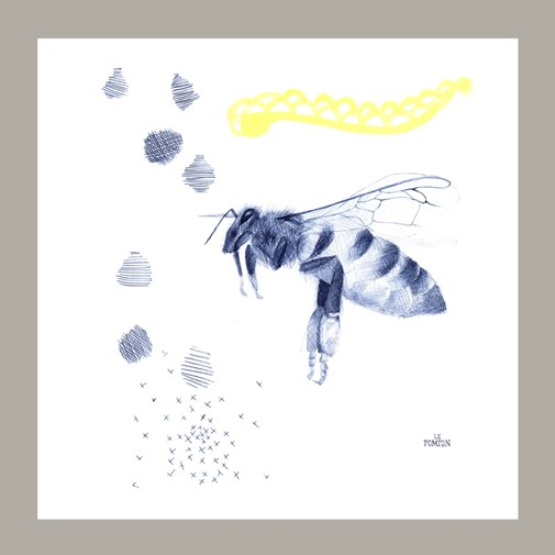 Serviette de table - Abeille Chérie