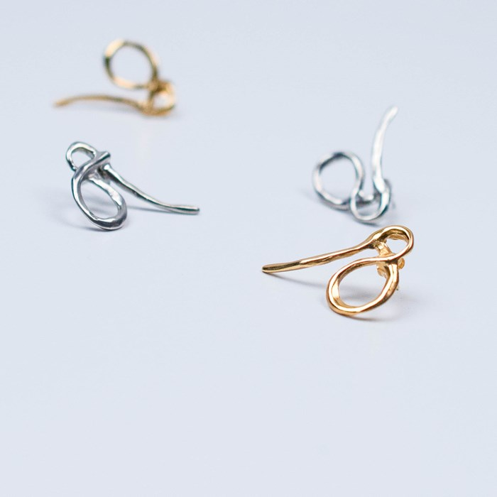 Bouclesd'oreilles, bronze, dorées, Bresma, earrings, sustainable
