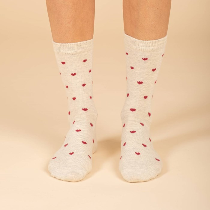 Chaussettes Love is Beige 2