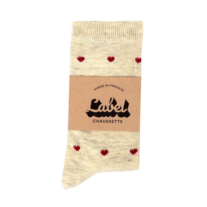 Chaussettes Love is Beige 6