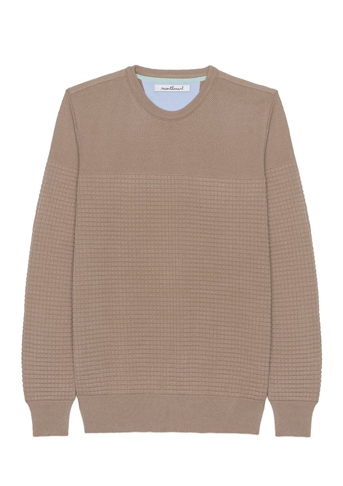 Pull FLANEUR - Made in France - Coton Bio GOTS - Camel 7
