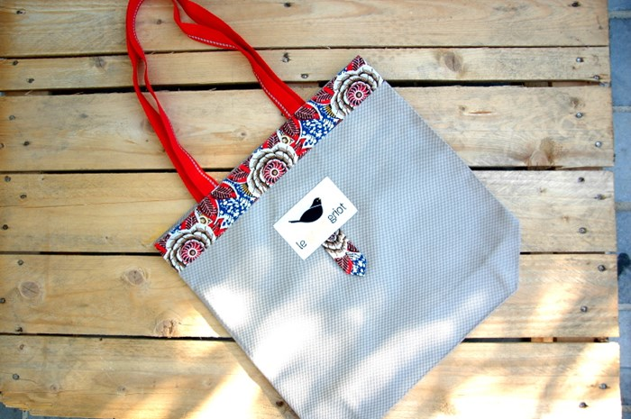 Sac Fourre tout - Tote Bag – Ultra résistant ! – Wax Red 3