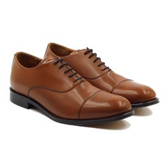 Richelieu Oxford cuir marron cognac