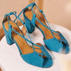 Sandales Stéphanie Turquoise