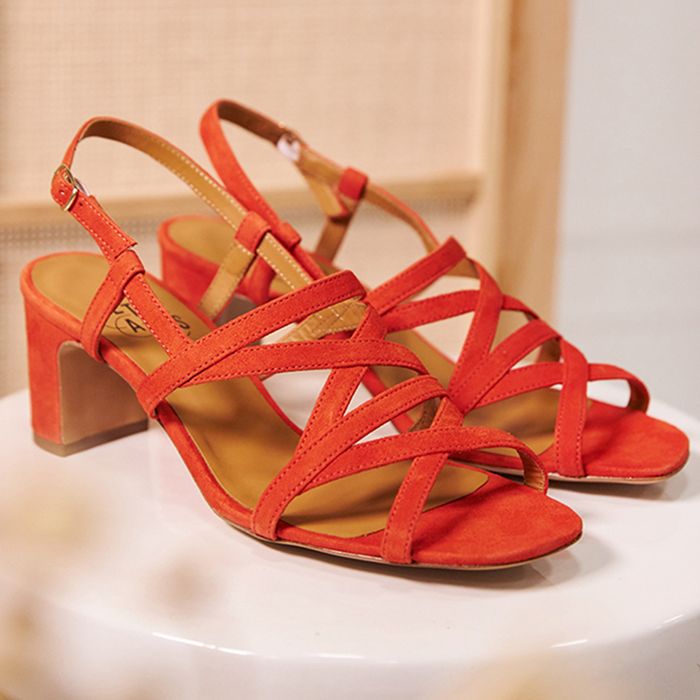 Chaussure-sandales-ecoresponsable-etreamis-modele-maryse-cuir-colori-corail