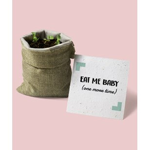 L'épicier - Eat Me Baby (one more time) en toile de jute 🌺