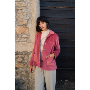 Veste Gwyneth Rose - Velours upcyclé