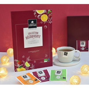 Assortiment de 6 grands thés et infusion bio - Coffret COLLECTION DECOUVERTE - 36 infusettes