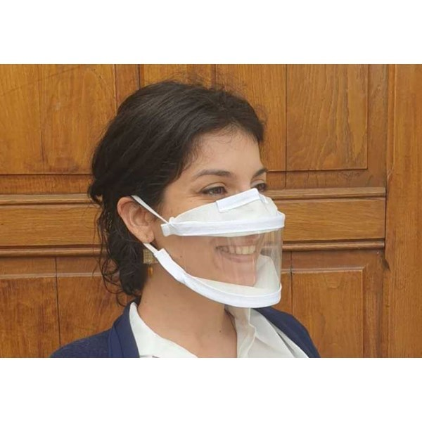 Masque inclusif made in France en tissu lavable DGA Cat.1 - 20 lavages 2