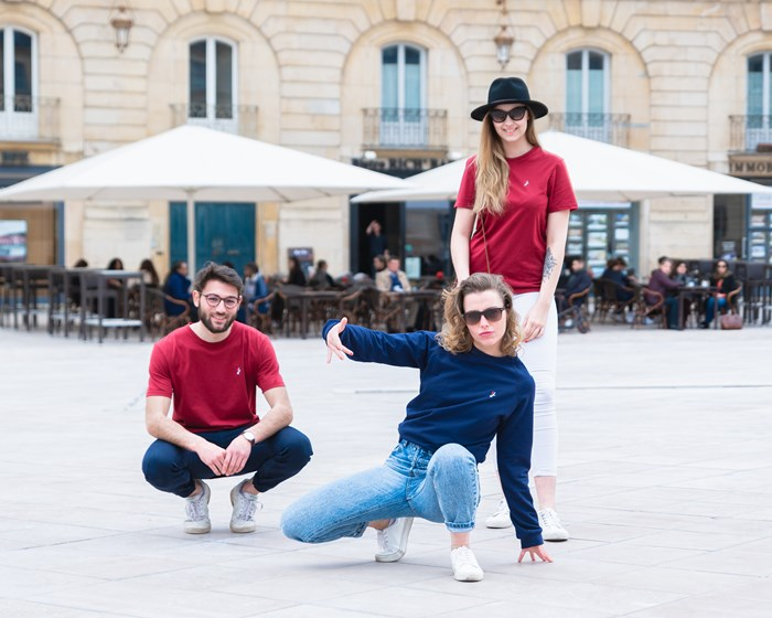 T-shirt 100% recyclé, made in France manches courtes - h 4