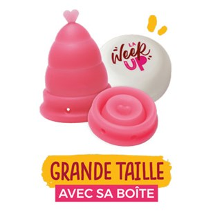 LA WEEK'UP : Coupe menstruelle pliable rose - Grande taille