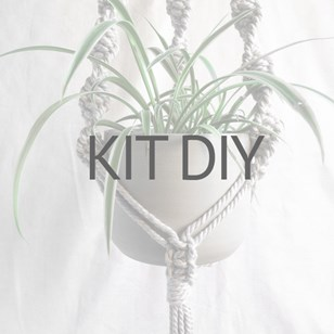 Kit DIY pour suspension en macramé corde 100% recyclée