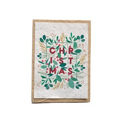 Lot de 5 cartes ensemencées -  Christmas floral
