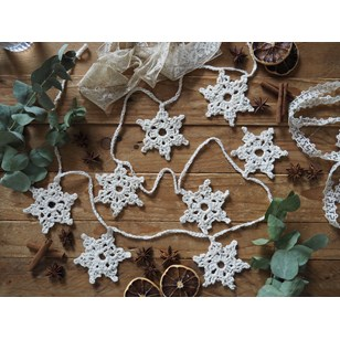 Kit DIY Guirlande flocons - Tricot Vegan