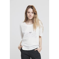 T-shirt blanc en coton bio - Better Together Ivy