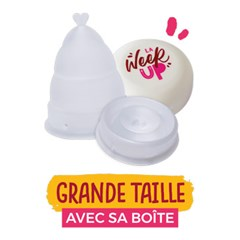 LA WEEK'UP : Coupe menstruelle pliable transparente - Grande taille