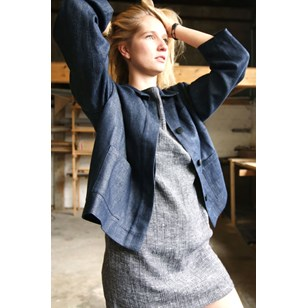 ARMAND VESTE WORKWEAR COURTE DENIM LIN/CHANVRE