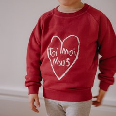 Sweat Enfant coton bio Coeur