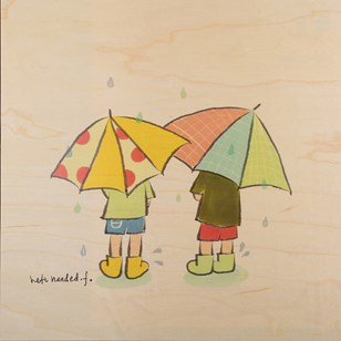 - Poster en bois - Rainy day