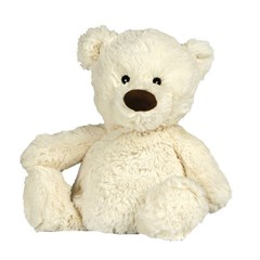 Peluche bouillotte Ours blanc