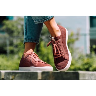 Saola chaussures éco responsables Cannon Knit Rusty Red - Femme