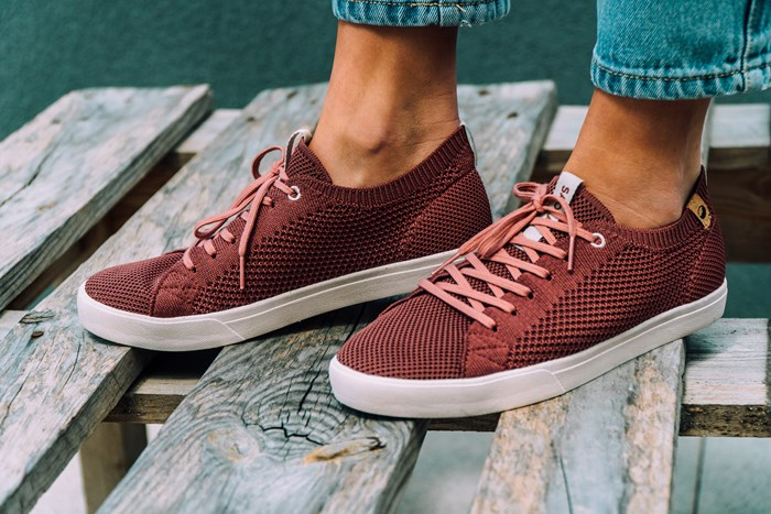 Saola chaussures éco responsables Cannon Knit Rusty Red - Femme  2