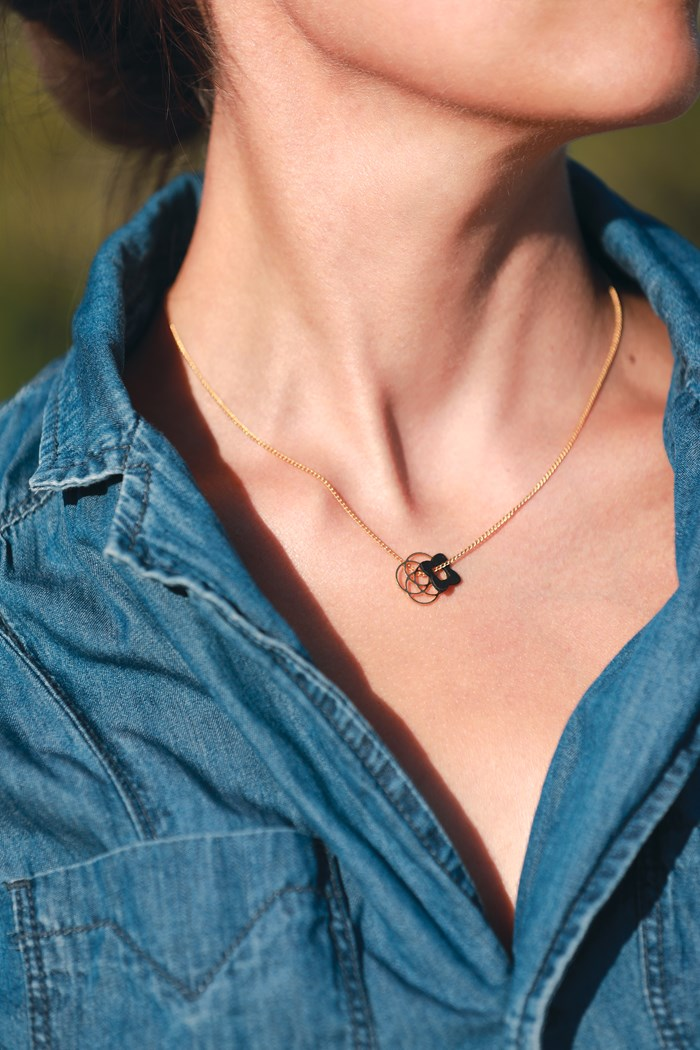 Collier rosace 3