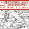 Sets de tables et nappe à colorier (4 ans et +) 2