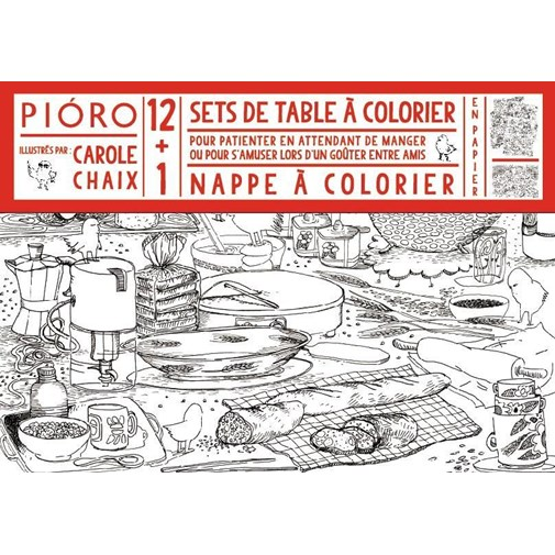 Sets de tables et nappe à colorier (4 ans et +)