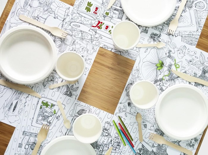 Sets de tables et nappe à colorier (4 ans et +) 3