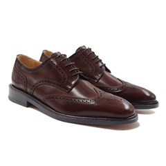 Derbies luxe en cuir marron