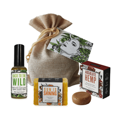 "Pochon cadeau chanvre - ""Sweet Hemp"""