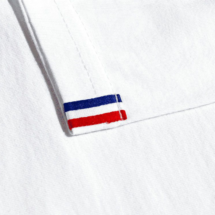 tshirt blanc homme made in france détail