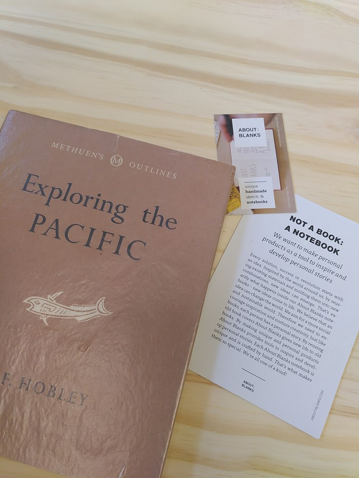 "NOT A BOOK A NOTEBOOK ! ""EXPLORING PACIFIC"" de About Blanks 6"
