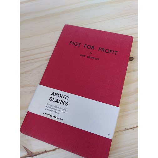"""NOT A BOOK A NOTEBOOK ! """"PIGS FOR PROFIT"""" de About Blanks"""