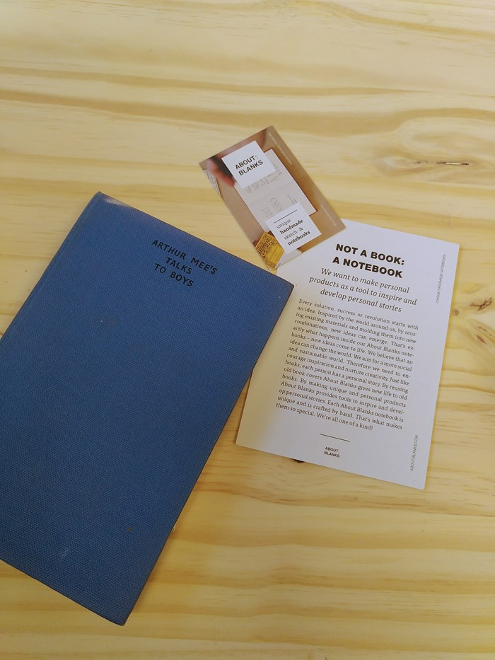 """NOT A BOOK A NOTEBOOK ! """"TALKS TO BOYS"""" de About Blanks 3"""