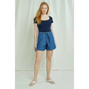 Short bleu délavé - Zahara Lightweight de People Tree