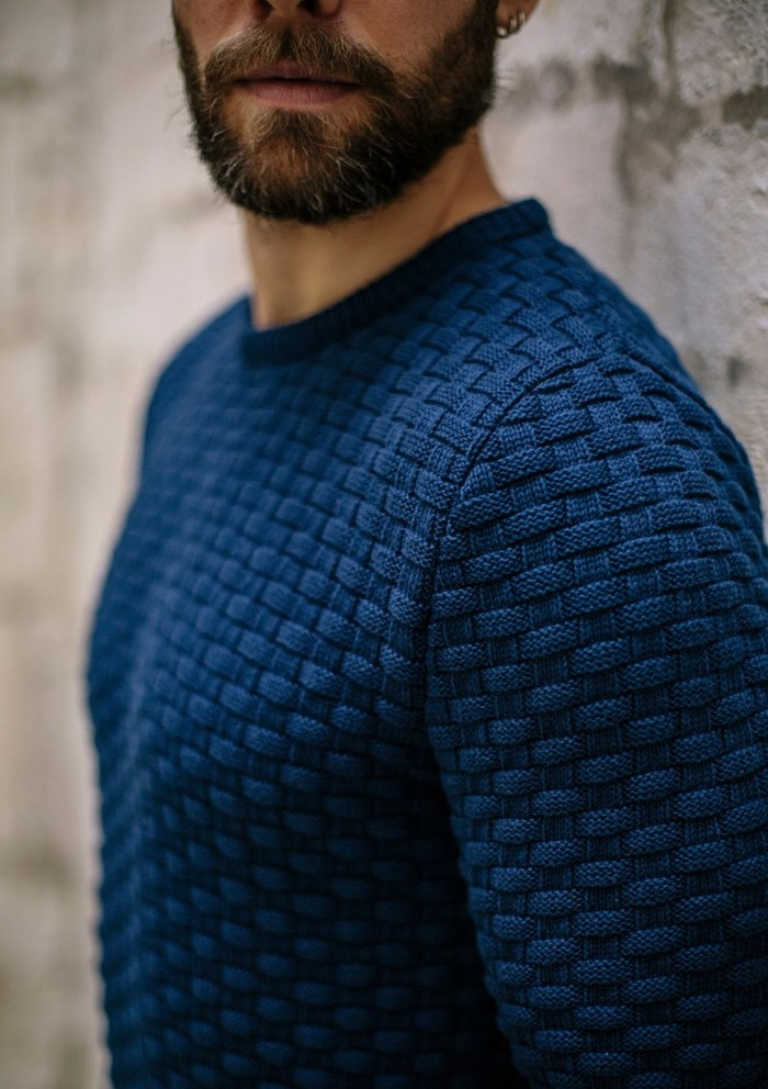 Pull DAMIER - Made in France - Coton Bio GOTS 12