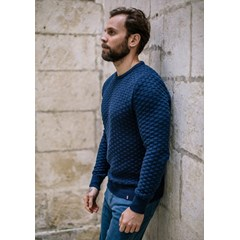 Pull DAMIER - Made in France - Coton Bio GOTS