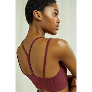 Crop Top Yoga - Burgundy de People Tree
