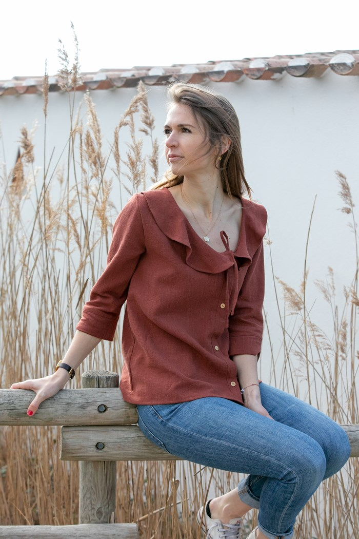 Chemise Fanny ecoresponsable Made In France