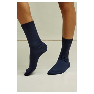 Chaussettes unies Navy - People Tree