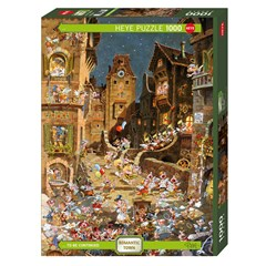 Puzzle HEYE Romantic Town By Night 1000 Pièces