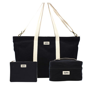 Pack Weekend - Sac cabas, vanity, pochette Noir